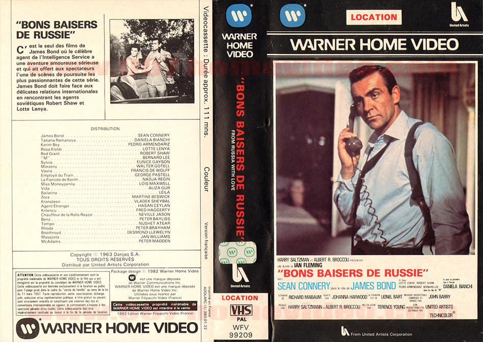 James Bond 007 Home Video Videotape Vhs Beta France